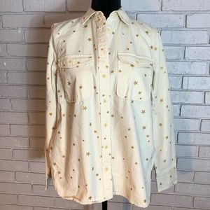 J. Crew Women's Gold Star Ecru Shirt
